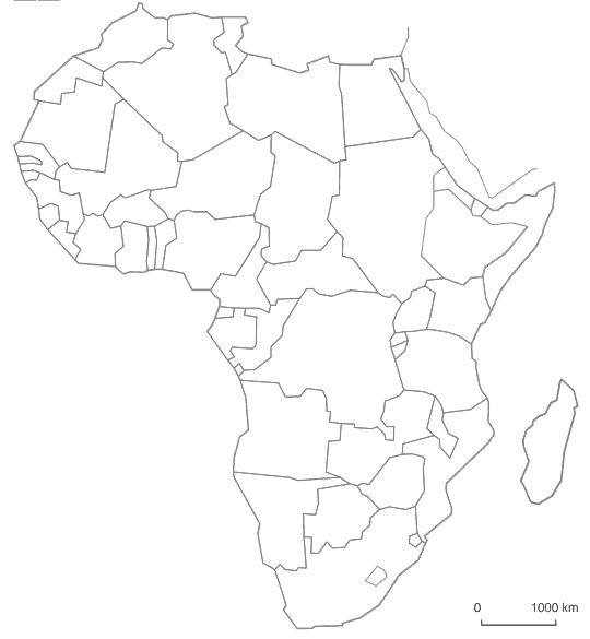 Mapa De Africa Vacio.Mapa De Africa Mudo Politico