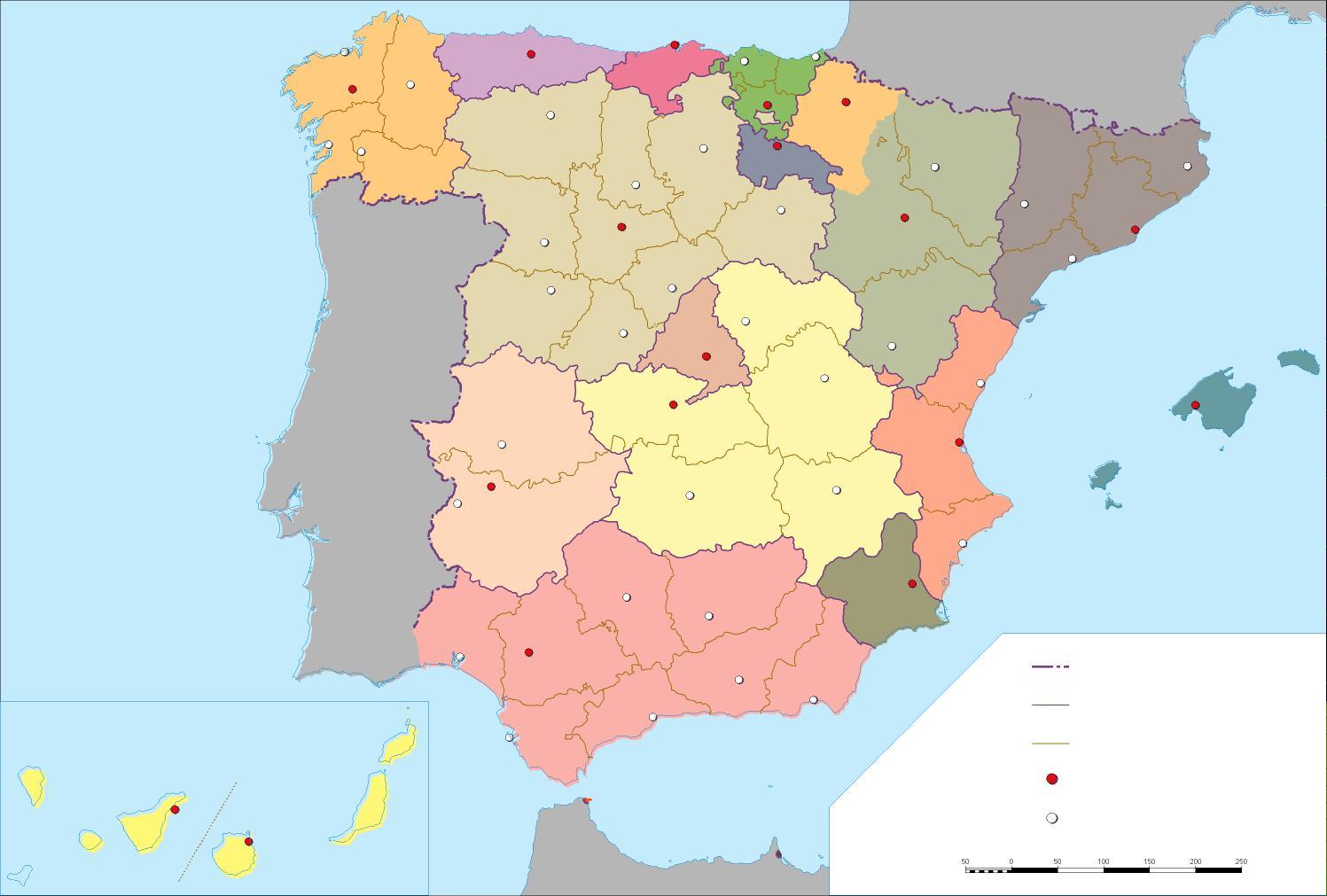 Mapa De España Fisico Mudo.Mapa Fisico Espana Vacio Mapa
